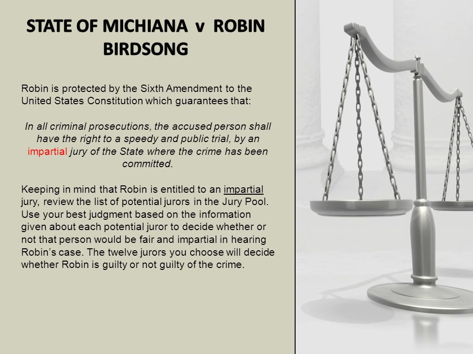 STATE OF MICHIANA v ROBIN BIRDSONG