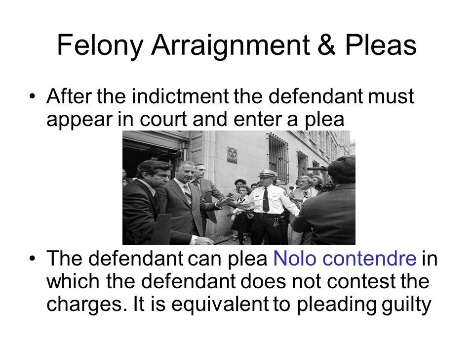 Felony Arraignment & Pleas