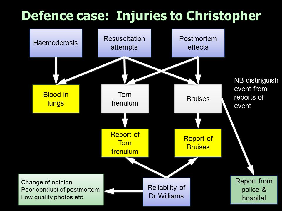 Defence case: Injuries to Christopher