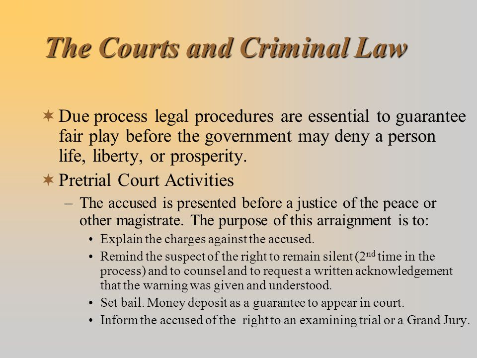 The Courts and Criminal Law