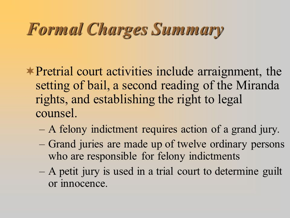 Formal Charges Summary