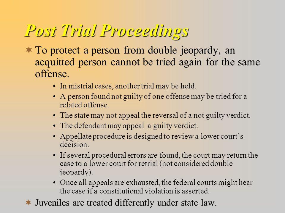 Post Trial Proceedings