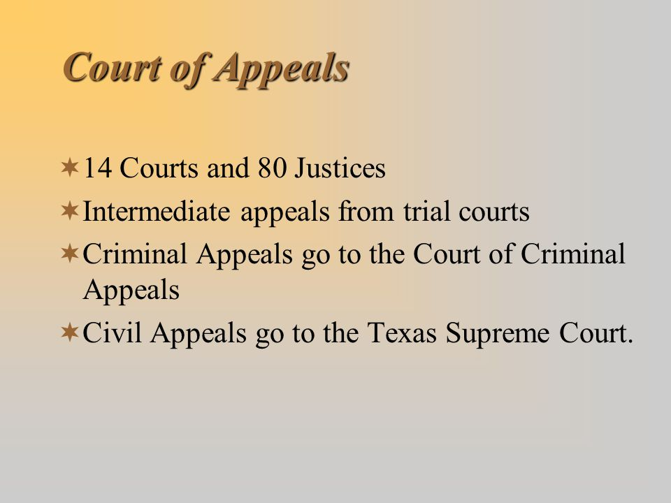 Court of Appeals 14 Courts and 80 Justices