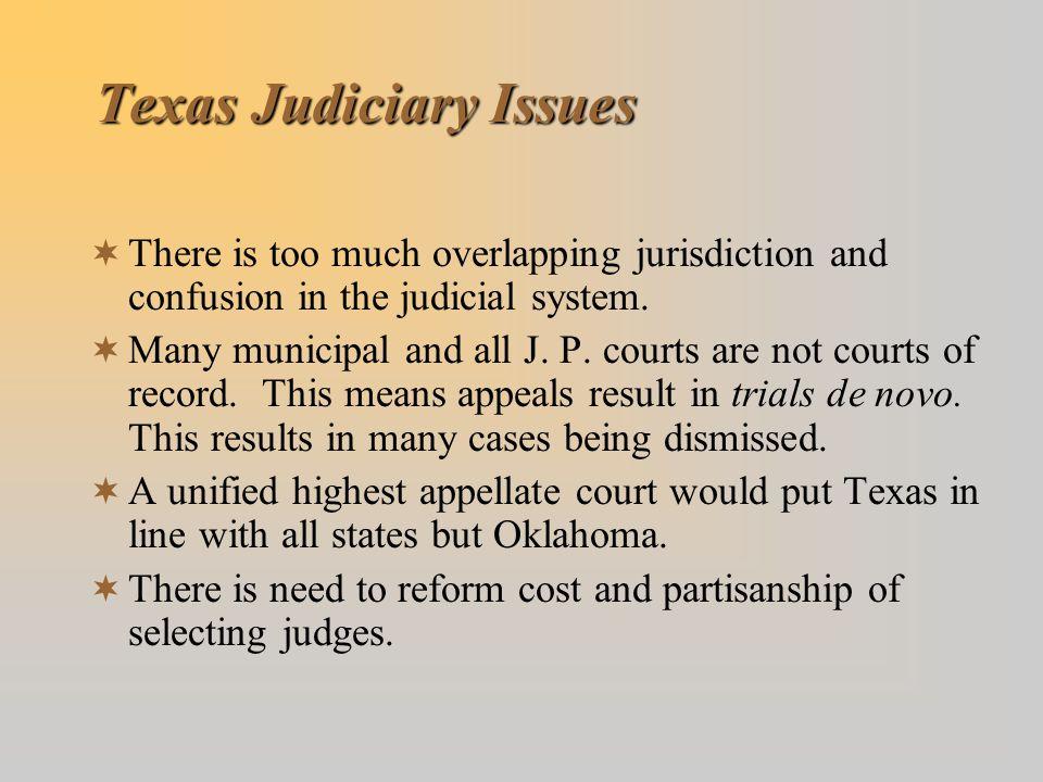 Texas Judiciary Issues