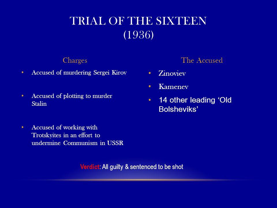 Verdict: All guilty & sentenced to be shot
