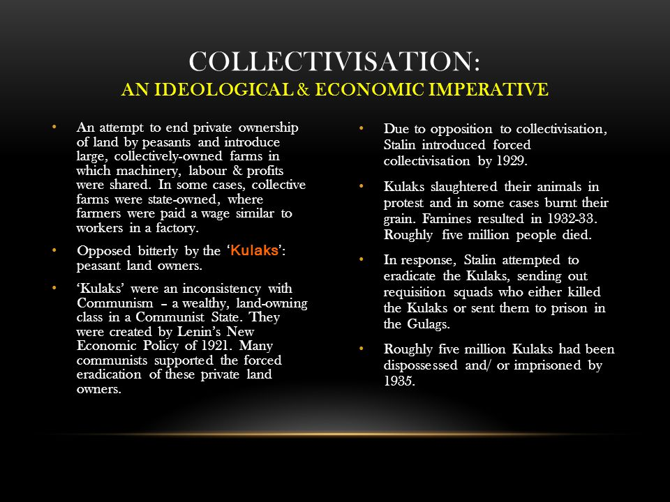Collectivisation: an Ideological & Economic Imperative