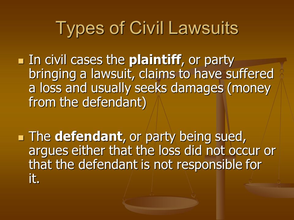 Types of Civil Lawsuits