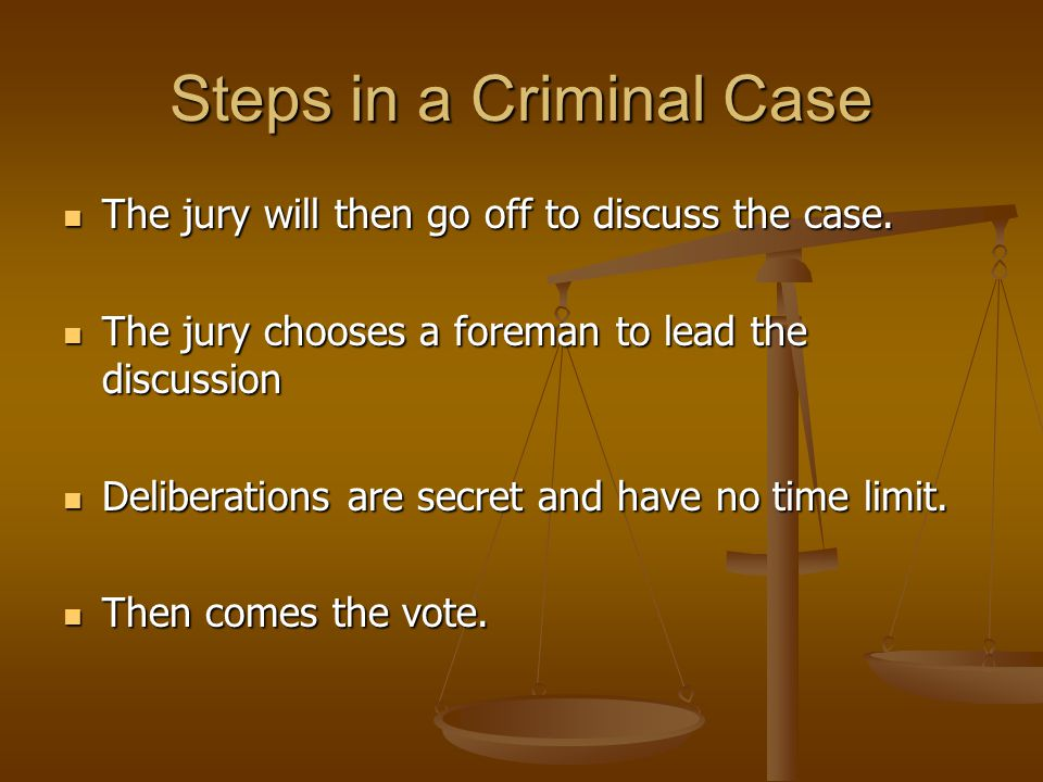 Steps in a Criminal Case
