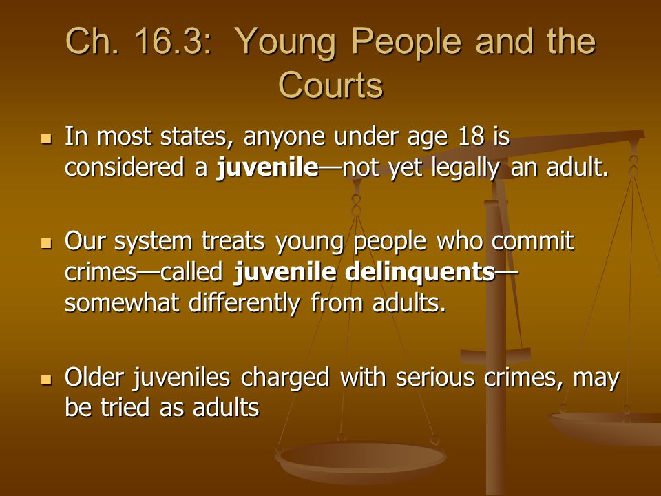 Ch. 16.3: Young People and the Courts