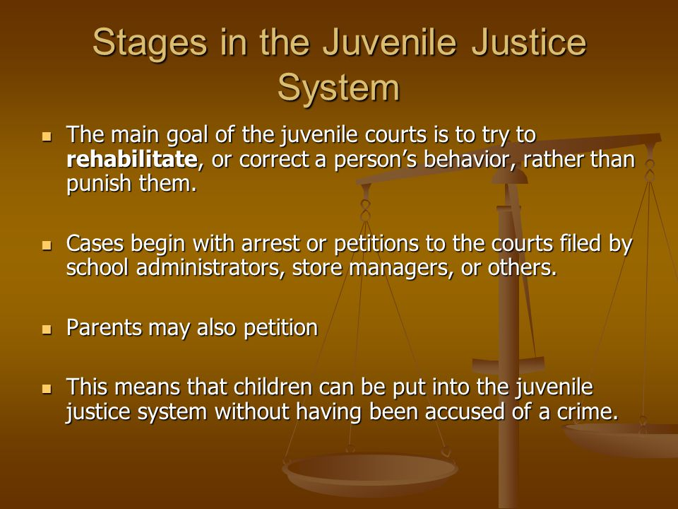 Stages in the Juvenile Justice System