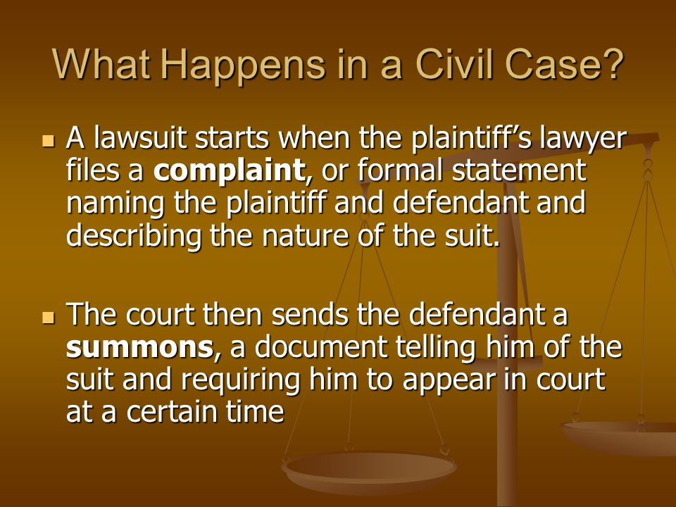 What Happens in a Civil Case