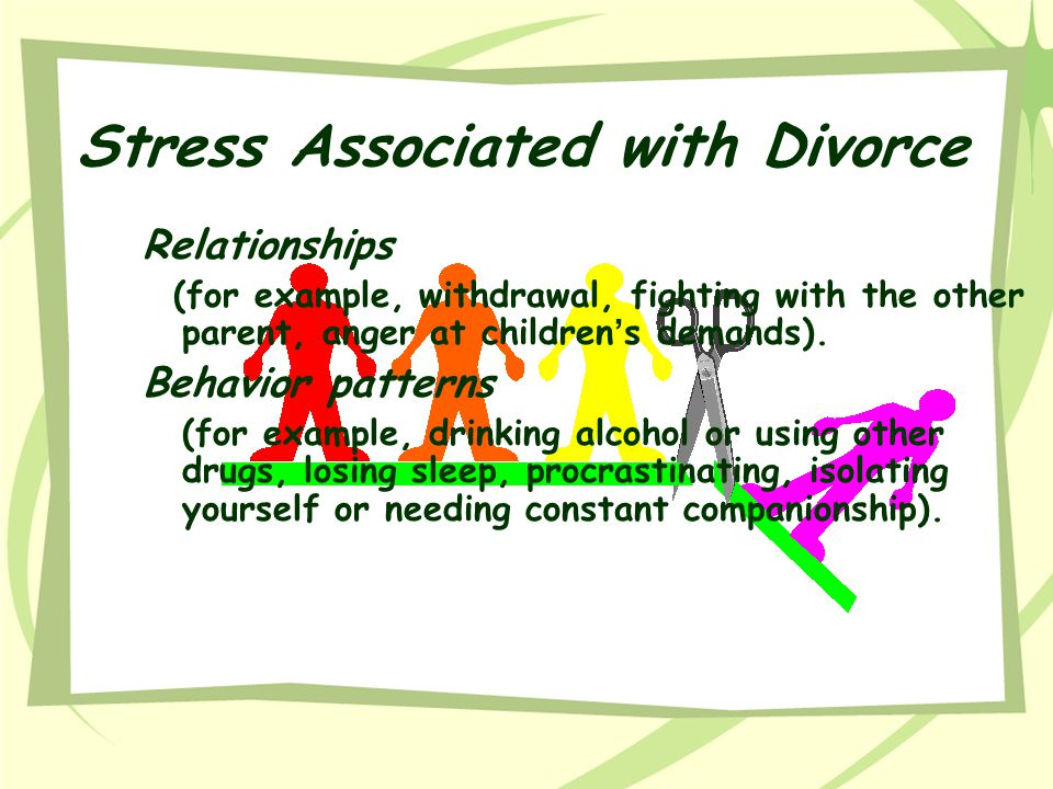 Stress Associated with Divorce