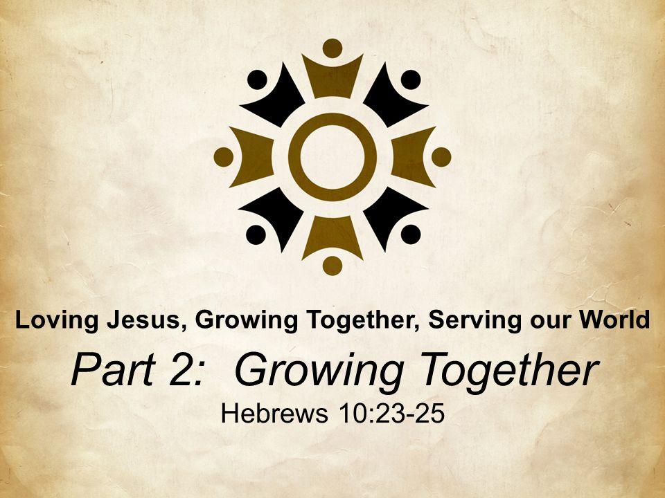 Loving Jesus, Growing Together, Serving our World