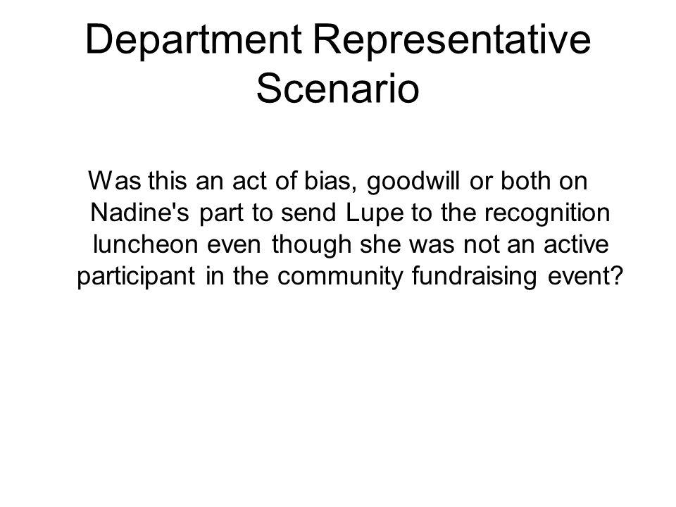 Department Representative Scenario