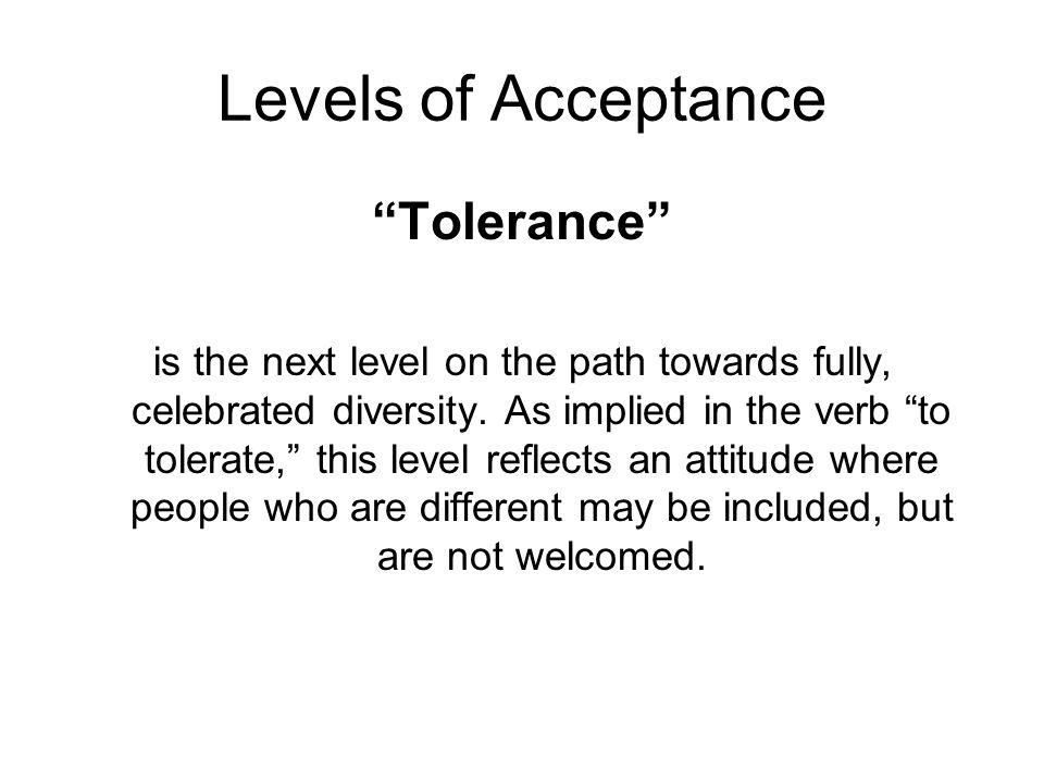 Levels of Acceptance Tolerance