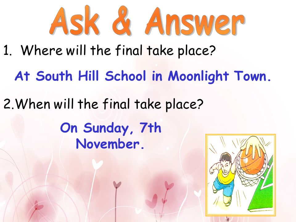 At South Hill School in Moonlight Town.