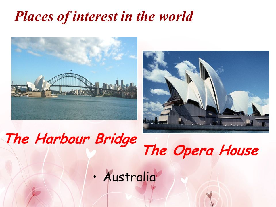 Places of interest in the world