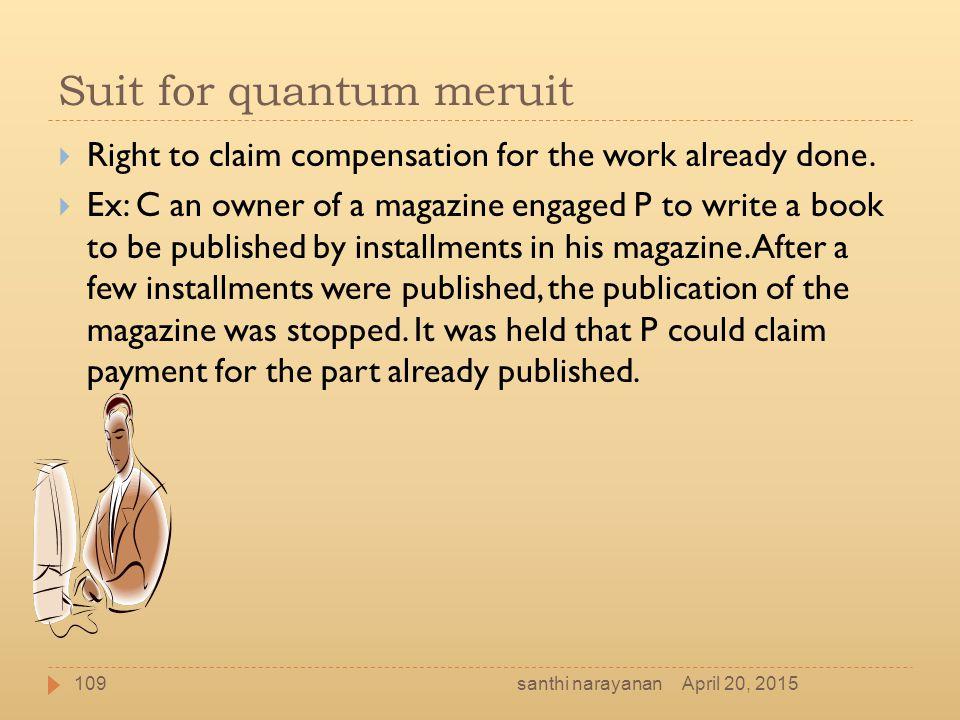 Suit for quantum meruit