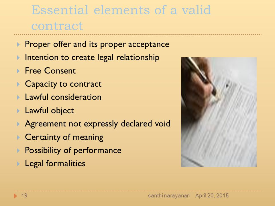 Indian Contract Act  Santhi Narayanan April  Ppt Download