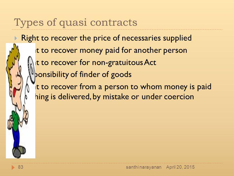 Types of quasi contracts