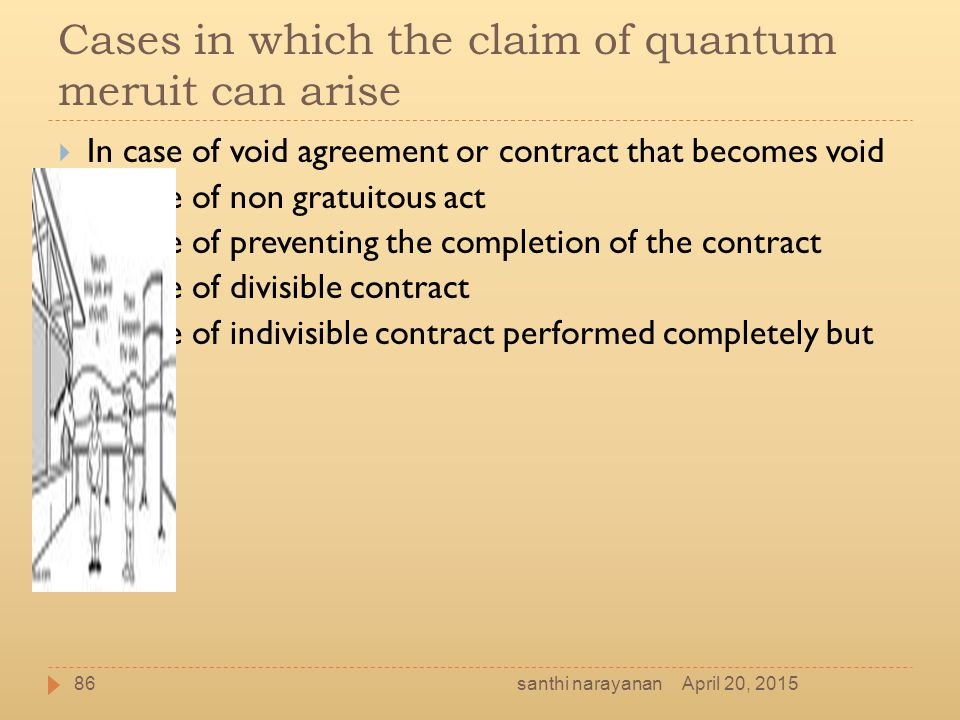 Cases in which the claim of quantum meruit can arise