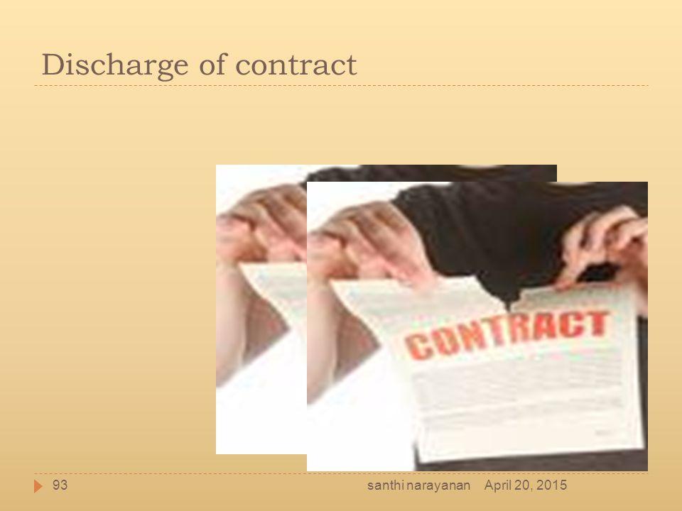 Discharge of contract santhi narayanan April 20, 2015