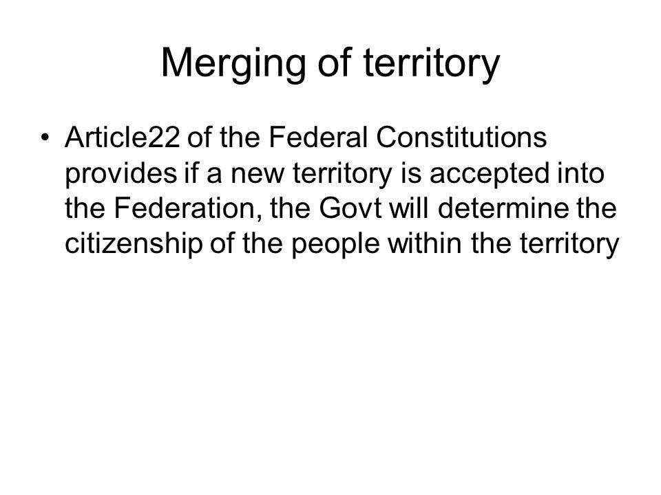 Merging of territory