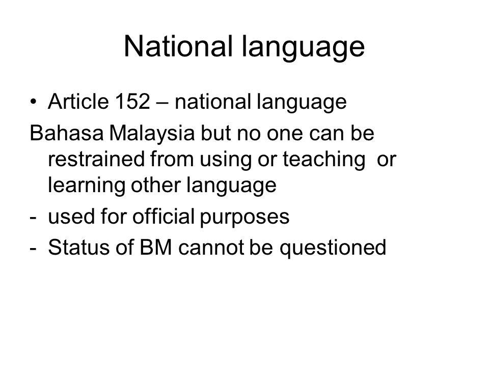 National language Article 152 – national language
