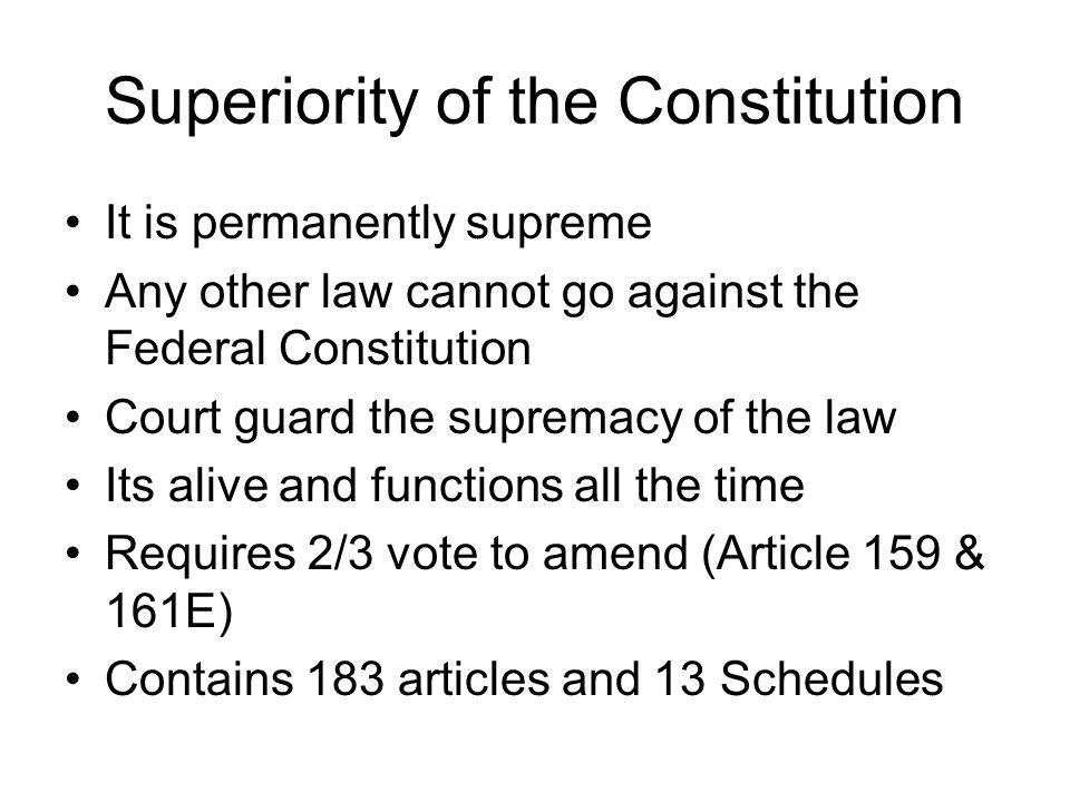 Superiority of the Constitution