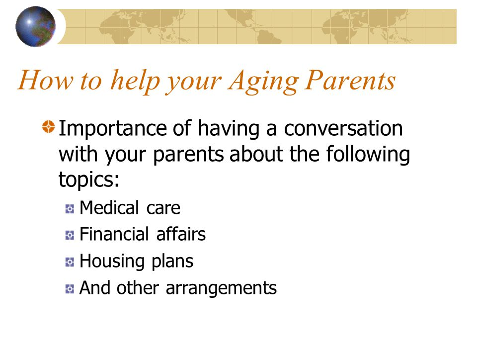 How to help your Aging Parents