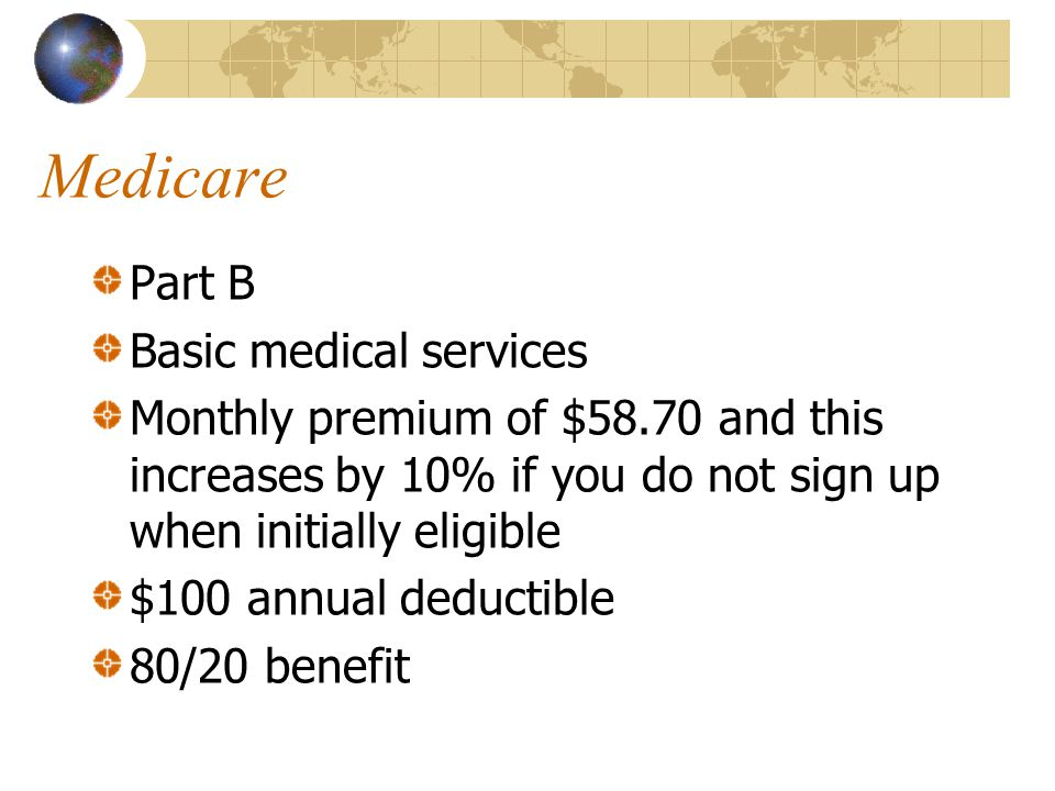 Medicare Part B Basic medical services