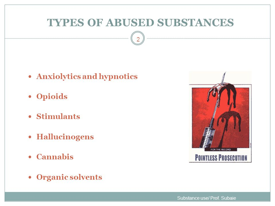 TYPES OF ABUSED SUBSTANCES