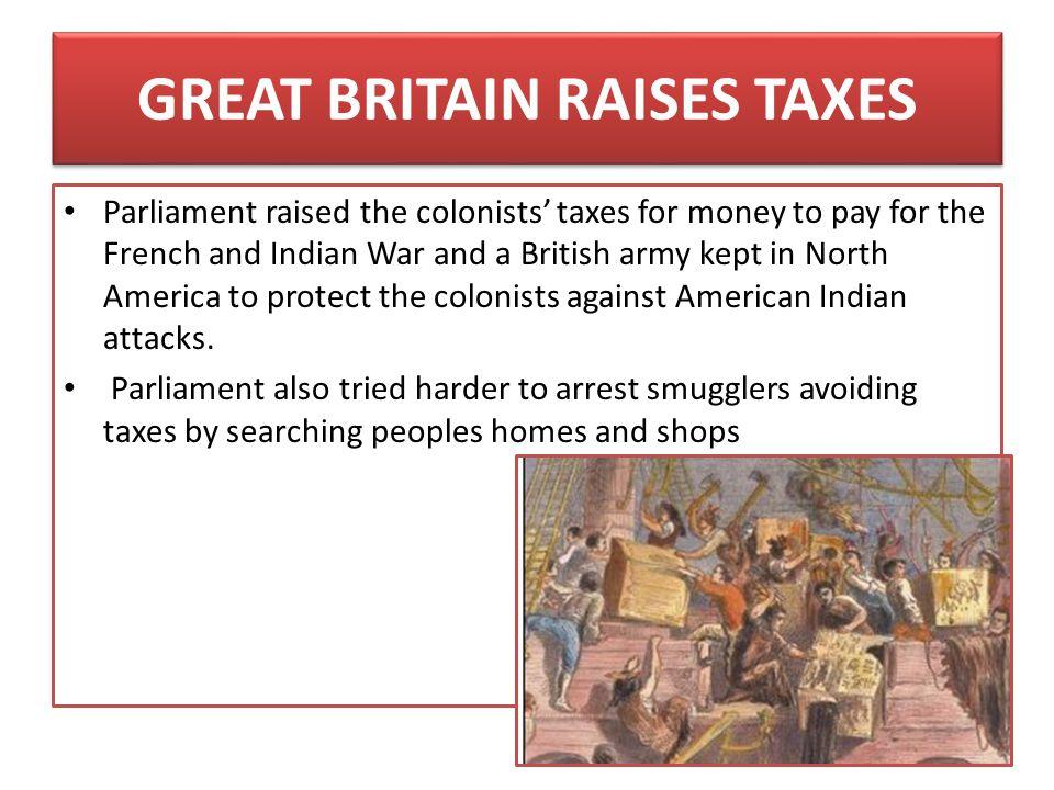GREAT BRITAIN RAISES TAXES