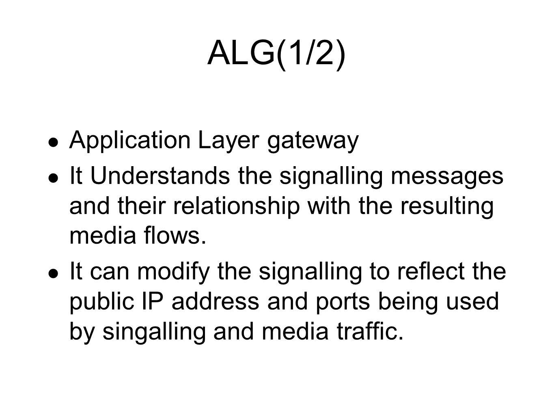 ALG(1/2) Application Layer gateway