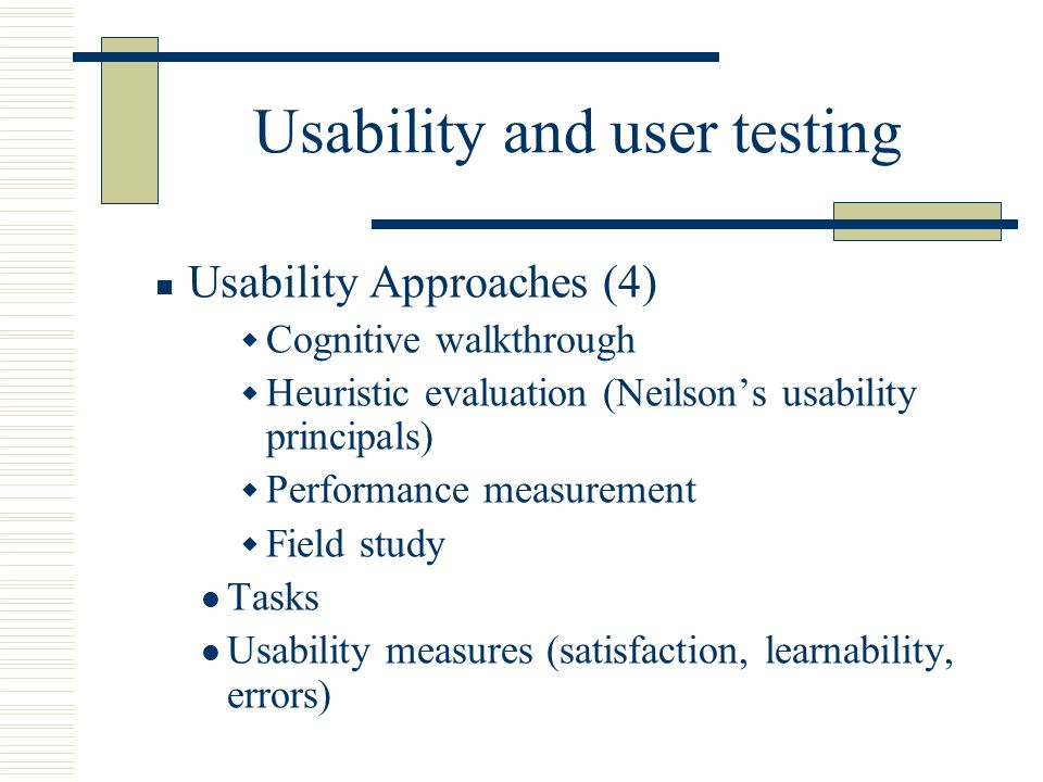 Usability and user testing