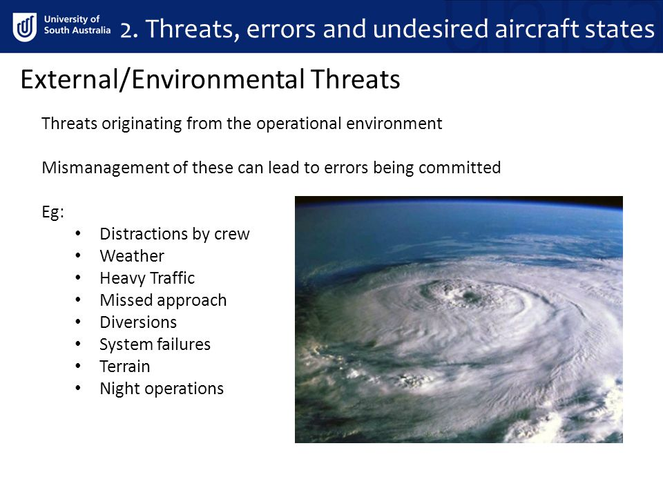 2. Threats, errors and undesired aircraft states