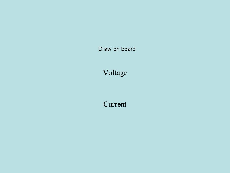 Draw on board Voltage Current