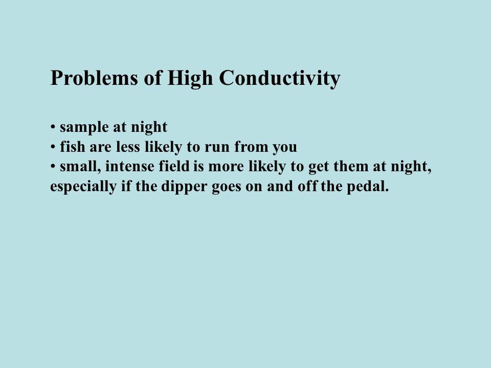 Problems of High Conductivity