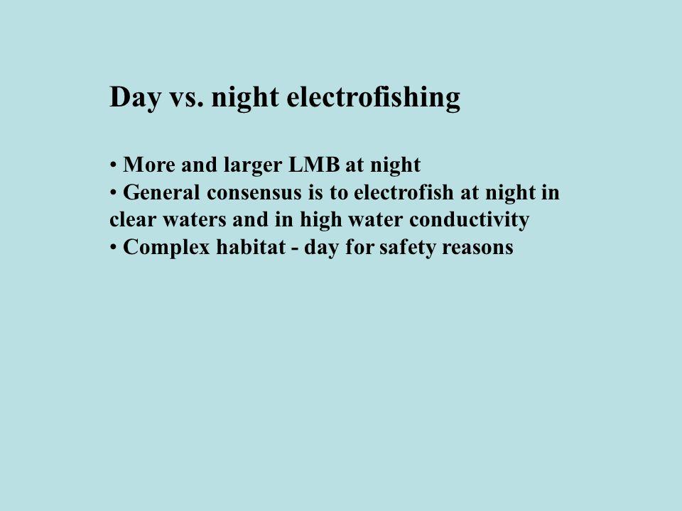 Day vs. night electrofishing