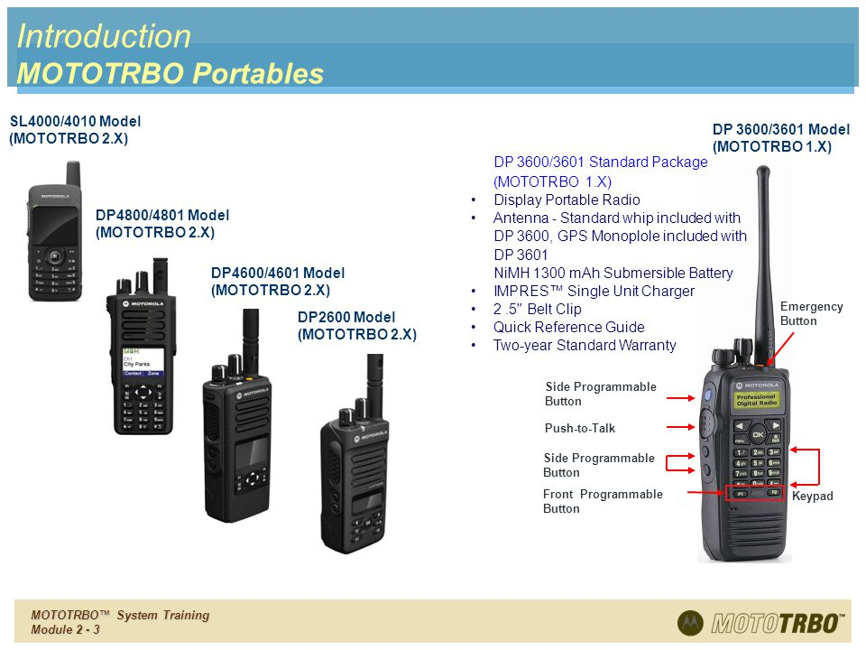 Introduction MOTOTRBO Portables