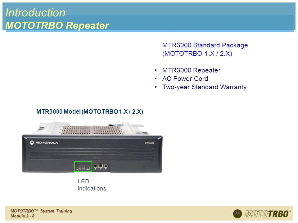 Introduction MOTOTRBO Repeater