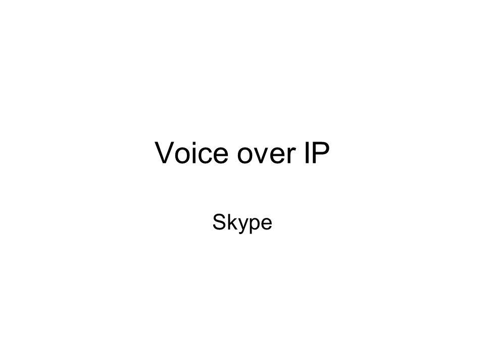 Voice over IP Skype