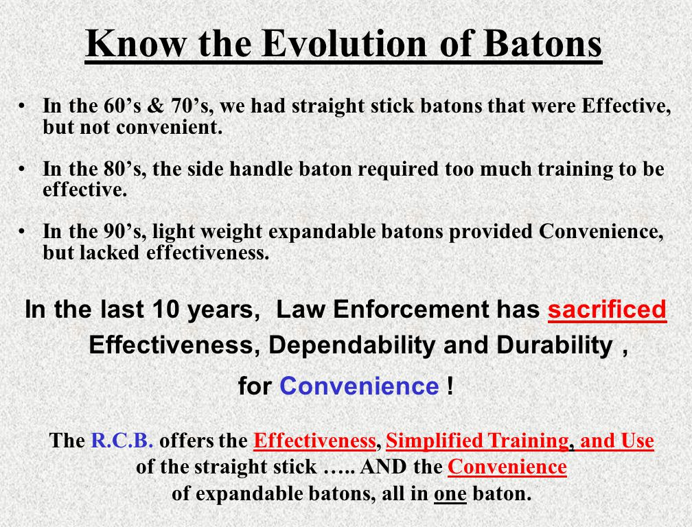 Know the Evolution of Batons