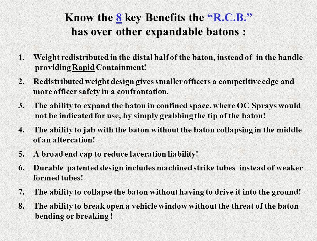Know the 8 key Benefits the R. C. B