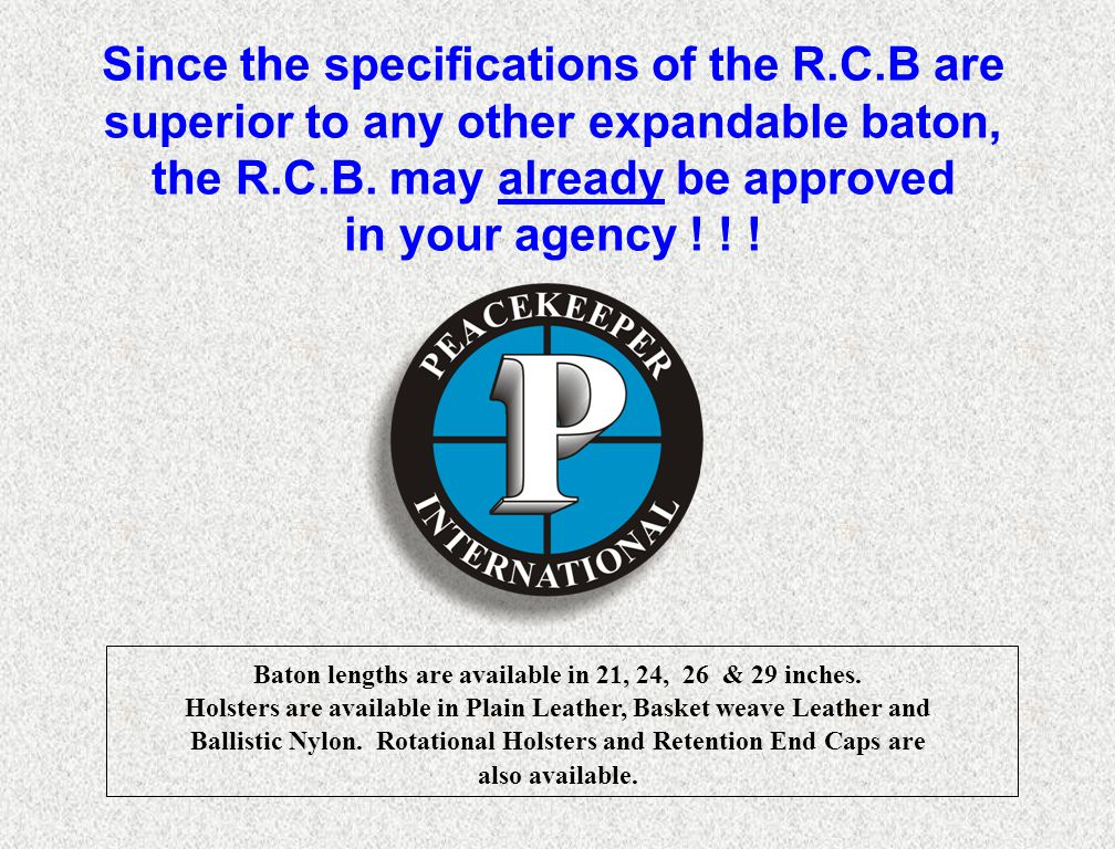 Since the specifications of the R. C