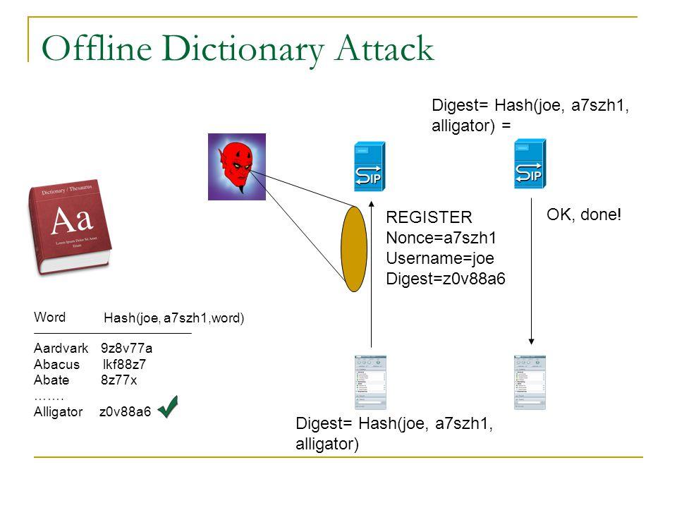 Offline Dictionary Attack