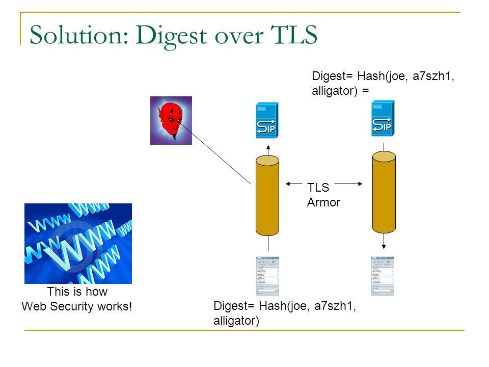 Solution: Digest over TLS