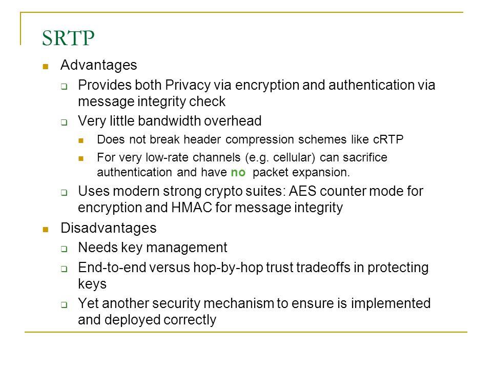 SRTP Advantages Disadvantages