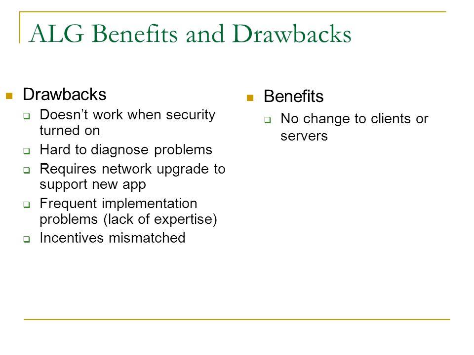 ALG Benefits and Drawbacks
