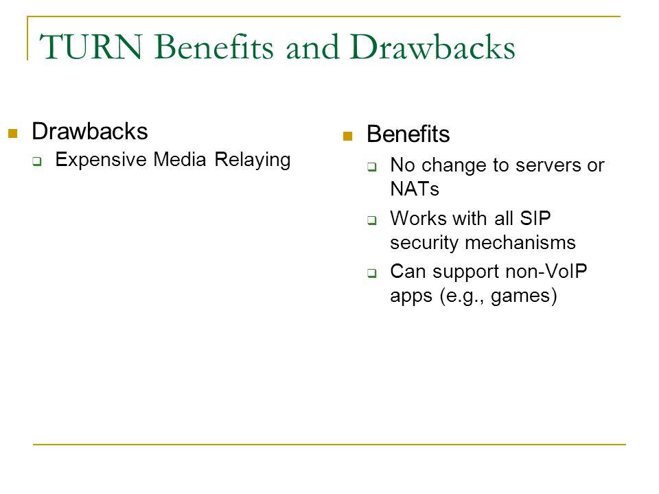 TURN Benefits and Drawbacks